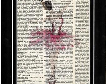 352 Ballerina upcycle vintage art