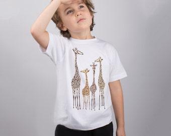 Animal Shirt for Kids Giraffe Shirt Cute Shirt for Toddlers Animal Graphic T-shirt for Baby Girl T Shirt Funny Giraffe Tee Kids Shirt PA1146