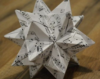 sheet music origami paper etsy