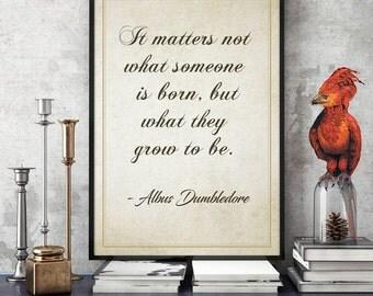 Harry Potter Wall Art • Harry Potter Printable Poster Professor Albus Dumbledore Quote Poster Quote Printable Kids Gift Harry Potter Decor