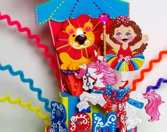 Circus Birthday party - Carnival party - Circus horse - Circus party - Birthday Cake topper - Party Carnival - Custom party centerpiece