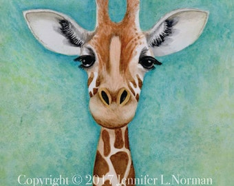 Giraffe Nursery Decor, Giraffe Art Print, Giraffe Art, Giraffe Wall Decor, Safari Nursery Decor, Giraffe Wall Art, Giraffe Home Decor