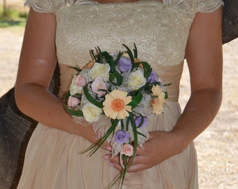 Wedding Bouquet Aix en Provence, preserved flowers bridal bouquet, real flowers, preserved Natural Flowers,