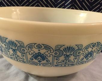Vintage Pyrex Mixing Bowl Blue Horizon Pattern