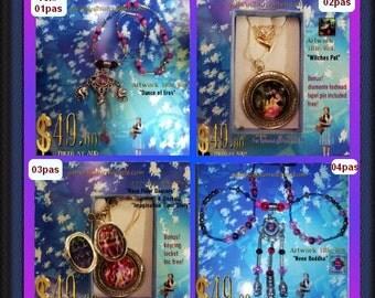 Art Jewel Necklace Handmade Jewelry Gifts Pastishe Set of 8 (1)