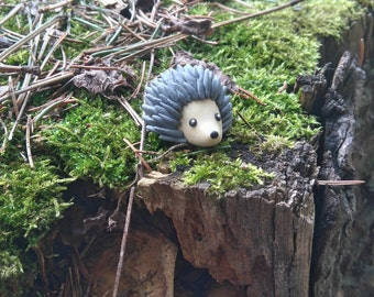 Polymer clay miniature Hedgehog
