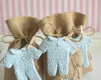 Baby Shower Favor Bags ~ Baby Shower Treat Bags ~ Gift Bags ~ It's a Boy Announcement ~ Baby Shower Baby Boy ~ Gender Reveal Favor Bags