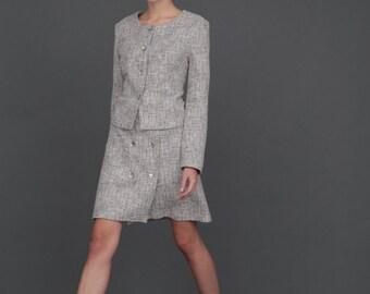 High Waisted Skirt /  A Line Skirt / Melange Skirt / Classic Skirt by BATTIBALENO / Q738