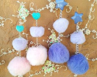 Dangle Puff Earrings