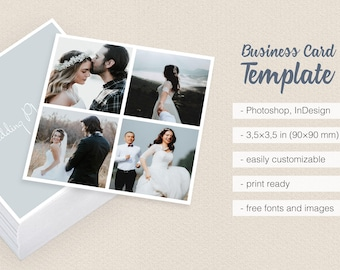 Square camera photographer clean old photo vintage business wedding photographer square camera collage business card template multiple photos with borders frames reheart Choice Image