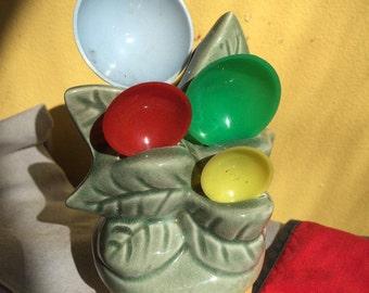 Ceramic Flower Pot Measuring Spoon Holder