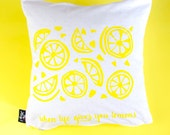 Cushion lemon silkscreen ...