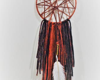 Red Dream Catcher - Bohemian Dream Catcher-Geometric Wall Decor-Wall Art-Gift For Him- House Warming Gift-Birthday Gift