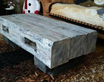 Reclaimed barn beam coffee  table