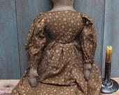 Primitive Colonial Doll - Brown