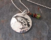 Raven and Gemstone Necklace