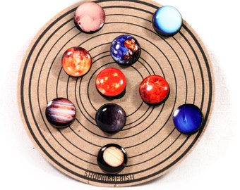 Planet Earrings//Solar System Studs//Post Earrings//Universe Earrings//Pluto//Set of 10 Earrings