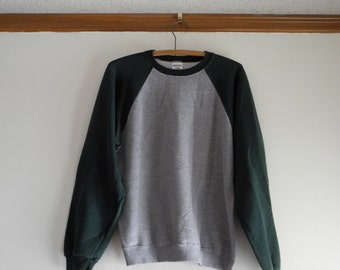 Two tone 70s / 80s RAGLAN 50/50 sweatshirt UNISEX sz. Small / Medium