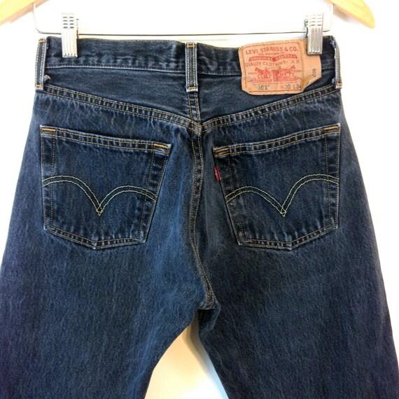 Vintage Black LEVIS 501 Jeans 5 Button Fly High Waist Mid Rise Distressed 90s Light Wash Denim Unisex Boyfriend Girlfriend 28 x 31 30x31