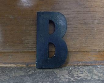 "MARQUEE Letter B, Sign Letter, B, Cast Aluminum Letter, Alphabet Letter B, Wall Art, Signage, 5"" High"