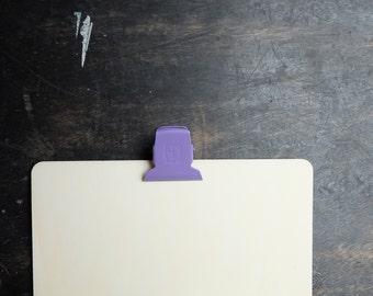Large Binder Clips, lavender paper clip purple