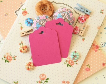 Magenta Pink fancy ornate scallop tags