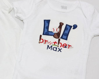 Big Brother or  Little Brother Baseball Shirt