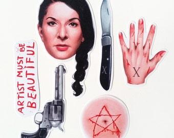 Marina Abramovic -  6 Sticker set