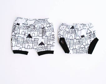 fortress bloomies shorties / diaper cover / baby leggings / toddler shorts / newborn to 3T