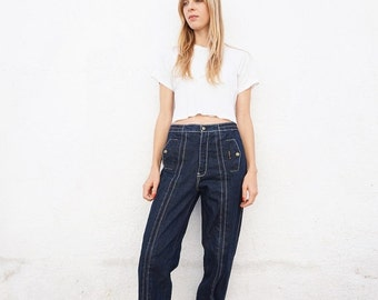 Jeans High Waist 80s Tapered Harem Pants Denim sz. 29
