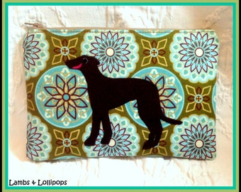 Greyhound Zippered Bag-Clutch-Smiling Greyhound-Would Make a Great Gift-Ready to Ship