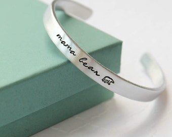 Mama Bear Bracelet - Customizable Bracelet - Mama Bear Jewelry - Mothers Bracelet - Personalized Bracelet - Cuff Bracelet - Bangle - Mama -