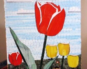 Tulip Mosaic Wall Hanging EZ