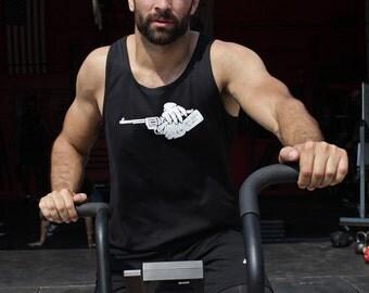Mens T-shirt Sale - Mens black tank top - Mens clothing - Mens athletic black tank top - Black sleeveless tank for men - Gym clothes for men