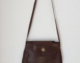 Vintage Italian Luana brown leather shoulderbag