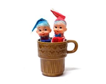 Vintage Knee Hugging Pixie Elf - Small