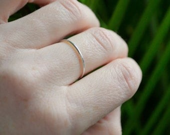 Thin Silver Ring, Sterling Silver Ring, Stackable Silver Rings, Dainty Silver Ring, Silver Midi Ring
