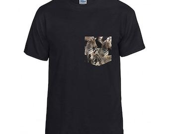 Zebra Pocket Shirt S/M/L/XL/2x/3x