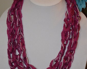 Magenta Chain Scarf/Necklace - Many Colors Available!