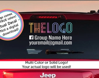 Custom car APPROVED by consultant Logo Car Decal, , consultant Advertisement, logo 2 text lines, car decal