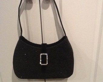 "Vintage ""NANNI"" Glittery Evening Bag with Rhinestones"