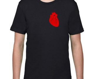 Kids Clothing, Kids Shirt, Funny T Shirt, Anatomical Heart, Anatomy Tshirt, Horror, Youth, Childrens Clothes, Ringspun Cotton