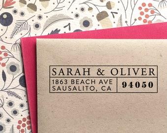 Custom address stamp, perfect as weeding gift, return address stamp, personalized christmas or birthday gift, self inking stamp