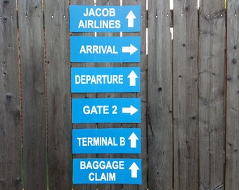 Airplane Party Signs, Airport Terminal Signs, Airplane Birthday Party, Airport Signs, Airplane Baby Shower, Airplane Decorations, Photo Prop