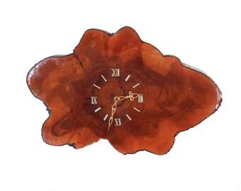 Vintage Wood Slice Wall Clock/ Organic Live Edge Cypress Knee Clock/ Tree Trunk Wall Clock/ Boho Natural Decor/ Retro Mid Century MCM Clock