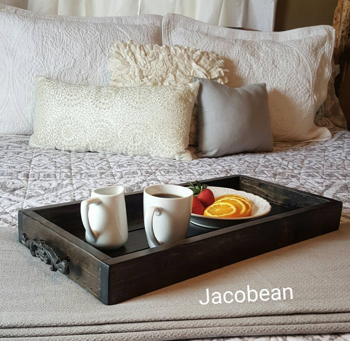 magazine tray - bed tray - breakfast tray - decorative tray