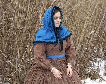 Blue Civil War Winter Hood