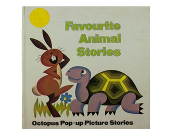 """Vintagepop-up book -- """"Favourite Animal Stories"""" by Pavlin & Seda -- great condition"""