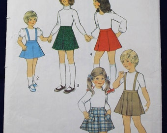 1970's Sewing Pattern for a Girl's Set of Skirts for Age 6 - Style 4801