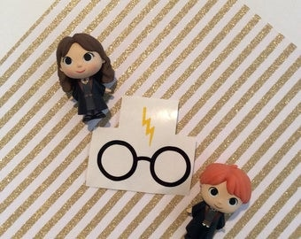 Harry Potter Scar and Glasses decal